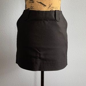 Vince Black Wool Mini Skirt 6
